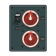 Blue Sea DC Dual Battery Management Panel, 2 Single Circuit ON-OFF Switches