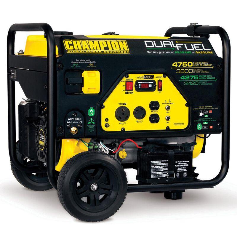 Champion 3800 Watt Dual Fuel Portable Generator image number 1