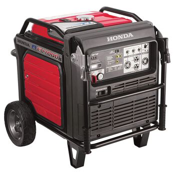 Honda EU7000iS 7,000 Watt Super Quiet Portable Inverter Generator with Electric Start
