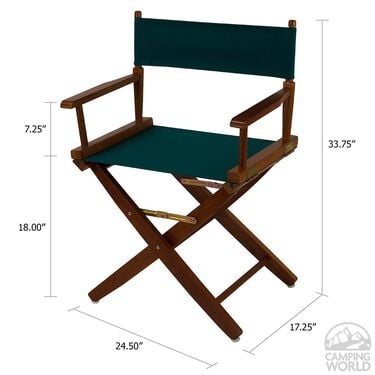 """Extra-Wide Premium Director's Chair, 18"""", Hunter Green"""