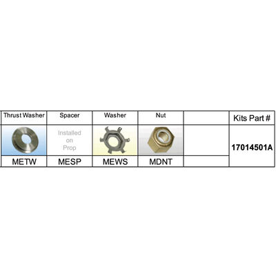 Solas 17014501A Propeller Kit Mercury 40 - 140 HP