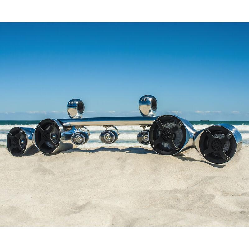 Roswell Elite Quad Spin Speaker/Light Combo, Polished image number 2