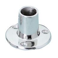Whitecap Round Base Rail Fitting, Stainless Steel 90°