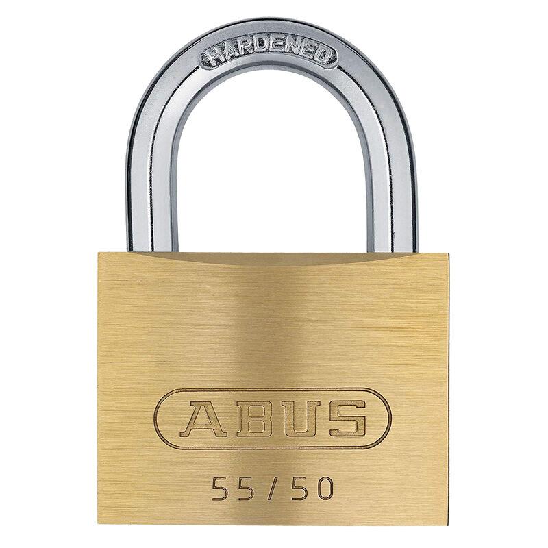 Abus Lock Brass Padlock, 55/50 image number 1
