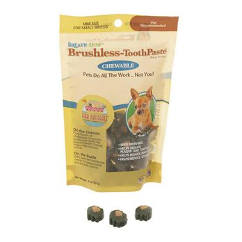 Breath-Less Brushless ToothPaste Chews, Mini, 4 oz.