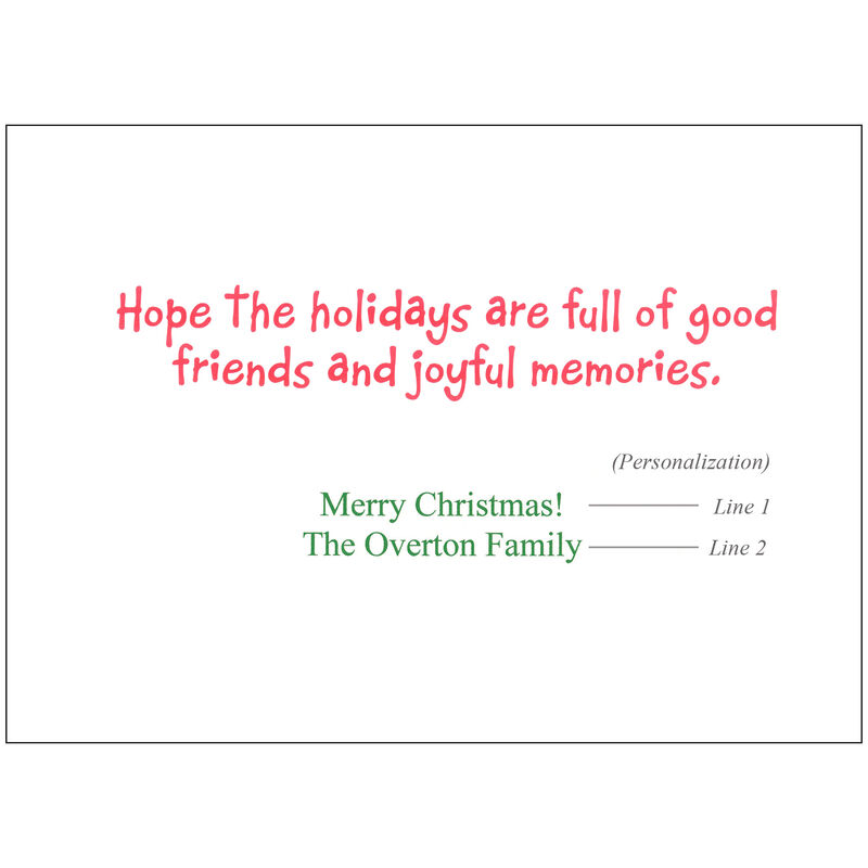 Personalized Santa's Pontoon Party Christmas Cards image number 2