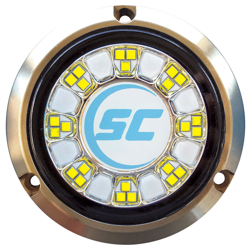 Shadow-Caster Color-Changing Bronze Underwater Light – 24 LEDs, Bimini Blue/Great White image number 1