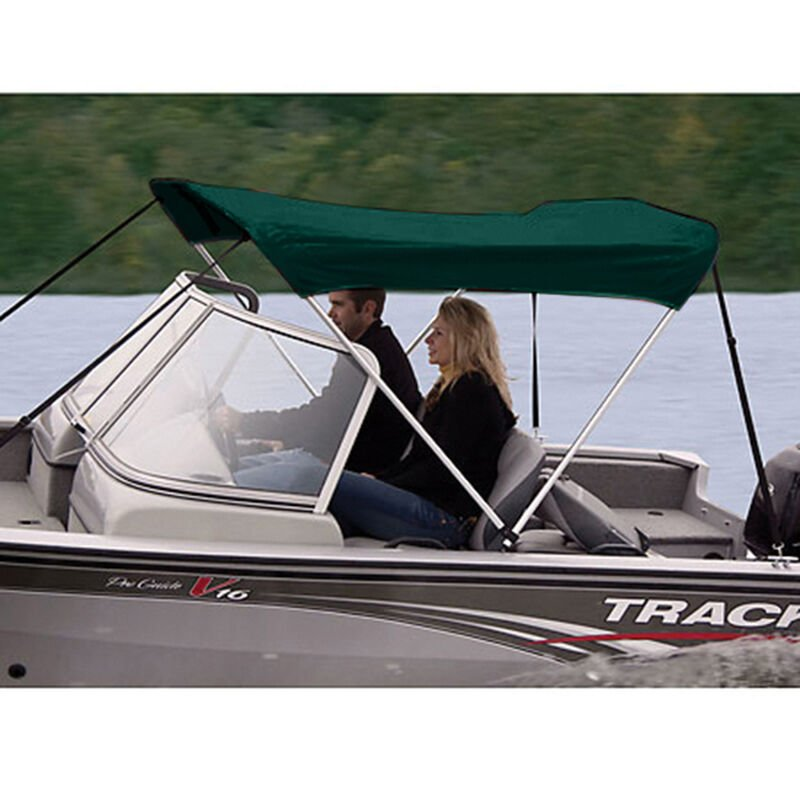 """Shademate Polyester 2-Bow Bimini Top, 5'6""""L x 42""""H, 54""""-60"""" Wide image number 3"""