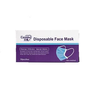 Carelder Disposable 3-Ply Face Masks, 50-pack