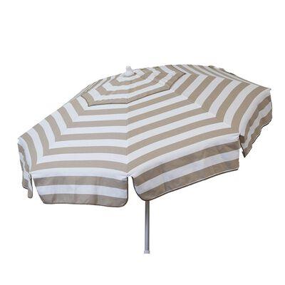 Italian 6 ft Patio Umbrella Acrylic Stripes Khaki and White