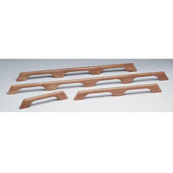 "SeaForce Teak Seven-Loop Handrail, 73""L x 2-3/8""H x 1""D"