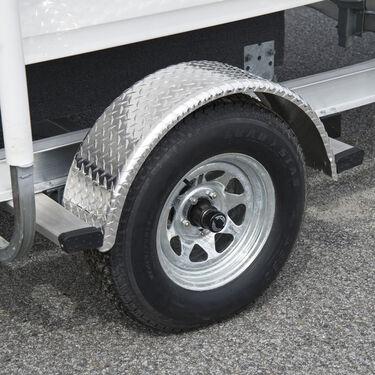 "Smith Round Trailer Aluminum Tread Plate Fender for 13"" Tire"