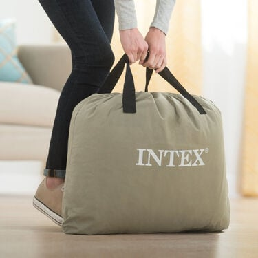 "Intex Dura-Beam Pillow Rest 16-1/2"" Raised Airbed with Built-In Pump, Twin"