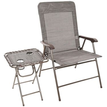 Wide Mesh Chair with Table