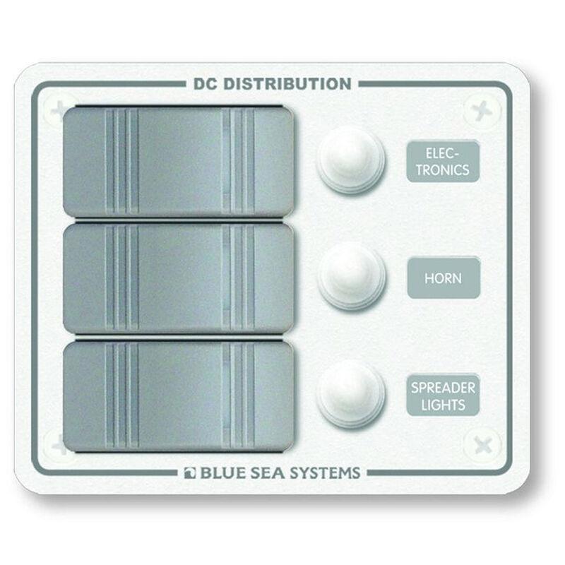 Blue Sea Water-Resistant Contura Circuit Breaker Panel, Model 8274 image number 1