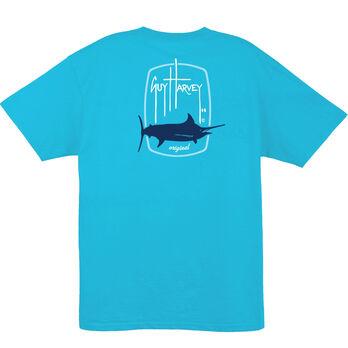 Guy Harvey Men's Barrel Logo Short-Sleeve Tee