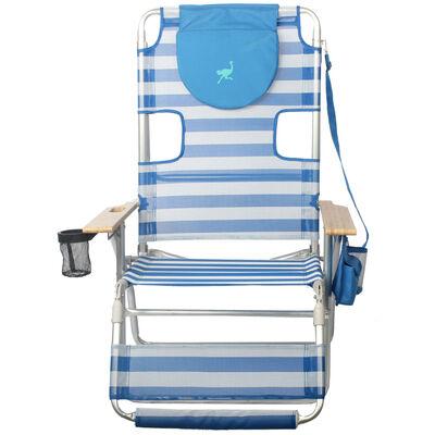 Ostrich Altitude 3N1 Beach Chair, Blue/White