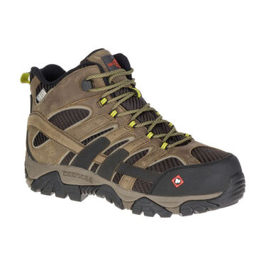 Merrell Men's Moab 2 Vent Mid Waterproof Composite-Toe Work Boot