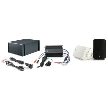 PolyPlanar MP3-KIT7-B MP3 Kit With Amplifier, Speakers, And Subwoofer