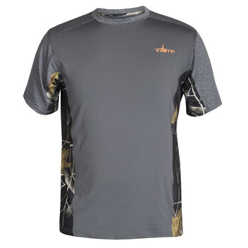Habit Men's Performance Short-Sleeve Tee - Solid with Camo Inserts