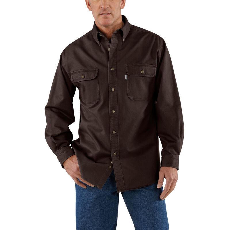 Carhartt Men's Sandstone Twill Long-Sleeve Shirt image number 2