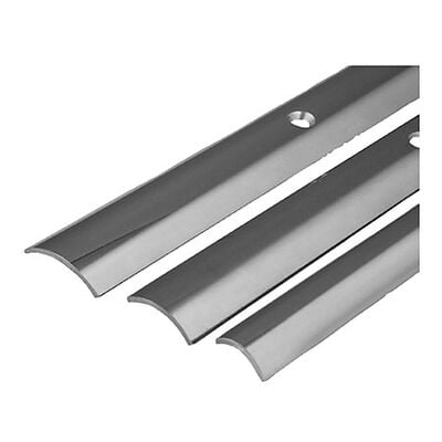 """Stainless Steel Hollow Back Rub Rail, 1-1/4"""" x 12'"""