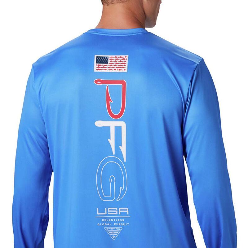 Columbia Men's PFG Terminal Tackle Americana Long-Sleeve Tee image number 5