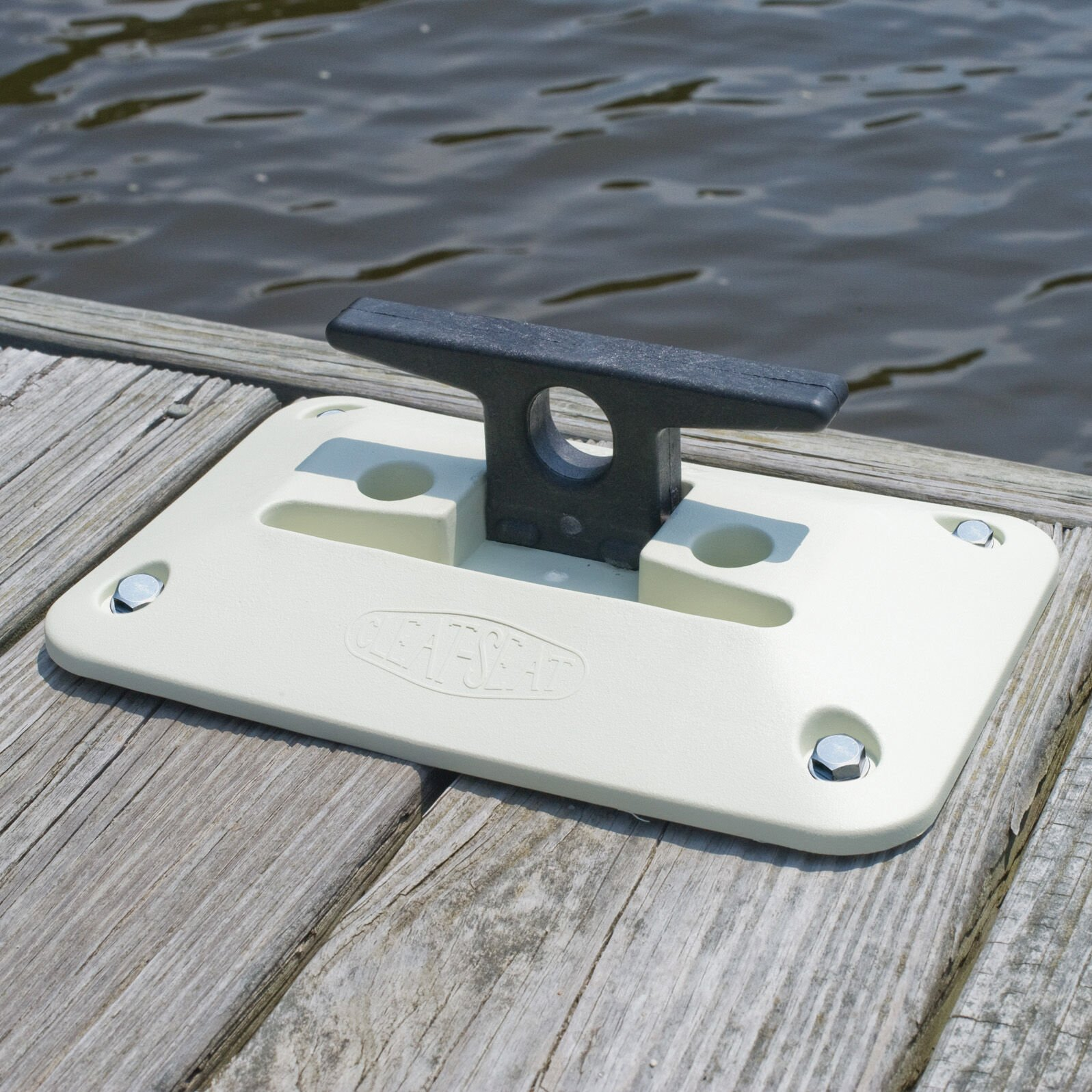 """2 6"""" Poly Nylon Boat Dock Safety Fold Down Cleat Seat Anchor"""