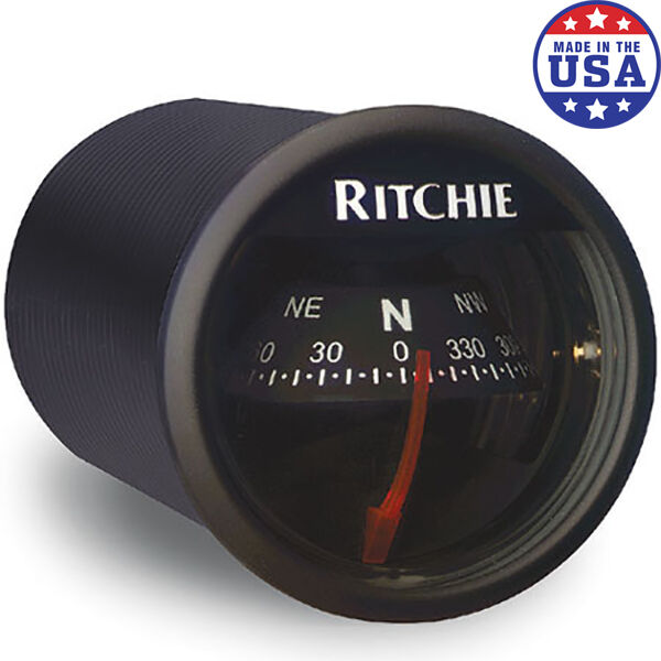 RitchieSport X-21 Dash-Mount Compass, black w/black card