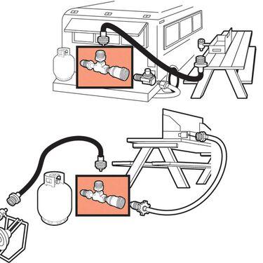 Propane Adapter Tee