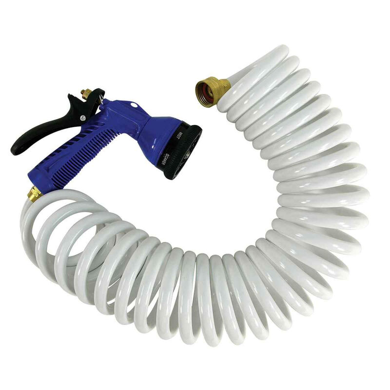 Whitecap Coiled Hose with Nozzle (25') image number 1