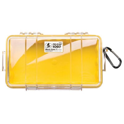 Pelican Micro Case 1060, Clear with Yellow Liner