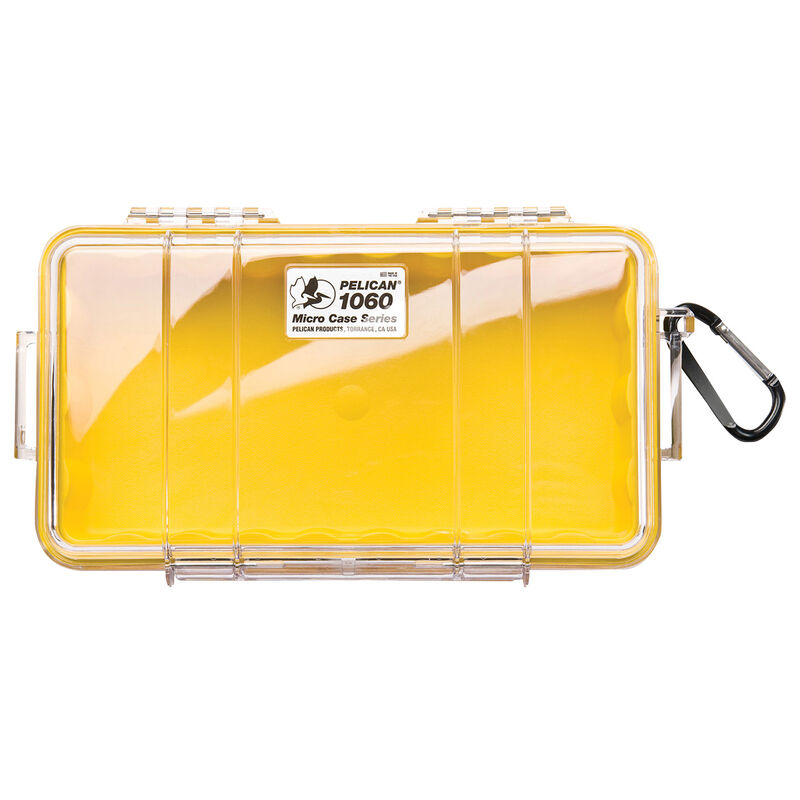 Pelican Micro Case 1060, Clear with Yellow Liner image number 1