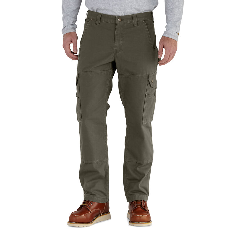Carhartt Men's Ripstop Cargo Work Flannel-Lined Pant image number 2