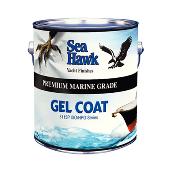 Sea Hawk Gel Coat With Wax Additive, Gallon - Snow White