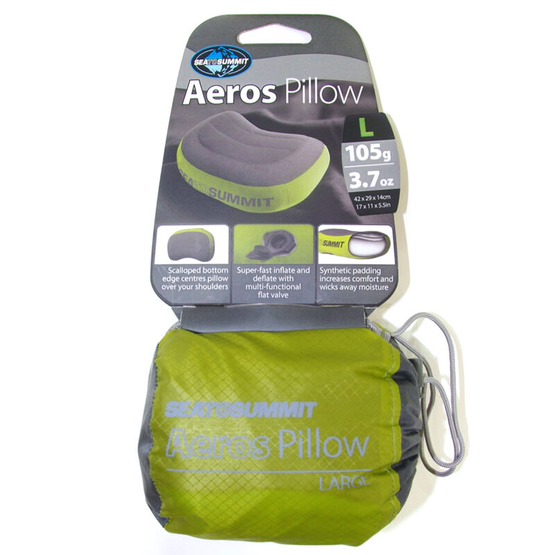 Sea To Summit Aeros Premium Inflatable Pillow, Green, Long image number 4