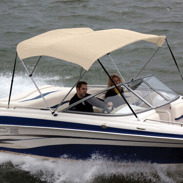 """Shademate Bimini Top Sunbrella Fabric and Boot Only, 3-Bow 6'L, 36""""H, 54""""-60""""W"""