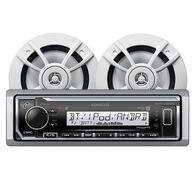 """Kenwood KMR-M322BT Bluetooth Media Receiver Package w/2 6.5"""" Two-Way Speakers"""
