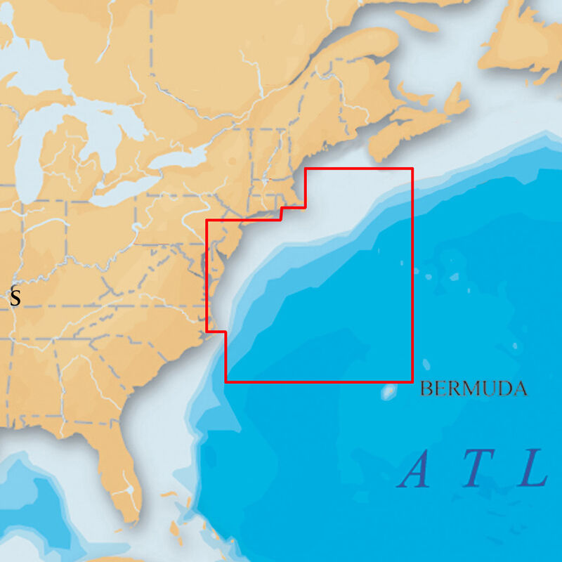 Navionics Platinum+ Map, New Jersey & Delaware - SD Cartridge image number 1