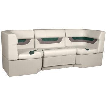 "Designer Pontoon Furniture - 86"" Rear Seat Package, Platinum/Evergreen/Mocha"
