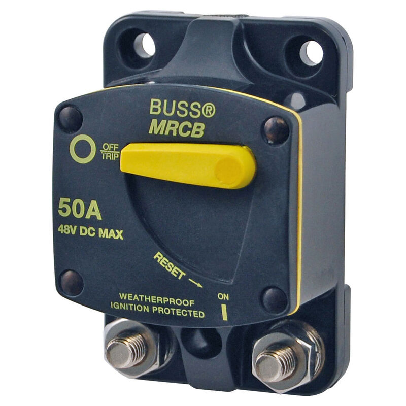 Blue Sea 187-Series Thermal Circuit Breaker, Surface-Mount, 90A image number 1