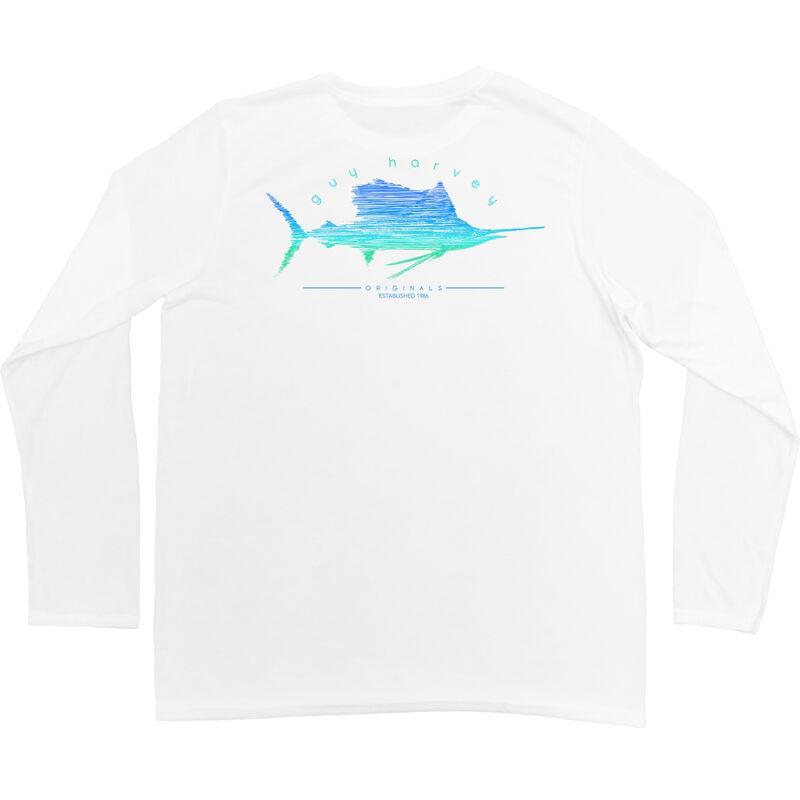 Guy Harvey Men's Sailfish Scribble Performance Pro UVX Short-Sleeve Tee image number 1
