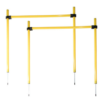 Pet Life Jumping Hurdle Collapsible Agility Dog Trainer Kit, One Size Yellow