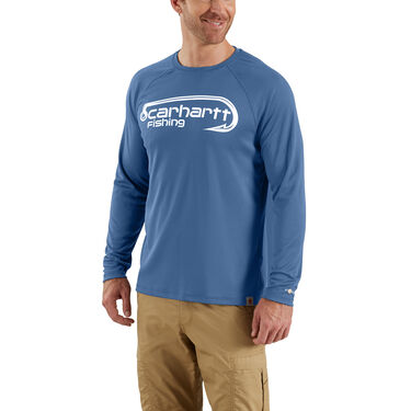 Carhartt Men's Force Fishing Hook Graphic Long-Sleeve Tee