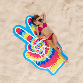 Bigmouth Gigantic Peace Sign Beach Blanket