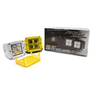 """Race Sport Street Series 3"""" 4-LED Cube Spotlights – White, 2-Pack"""