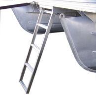 Under Deck 4-Step Pontoon Boat Ladder For Flat Front Decks Only