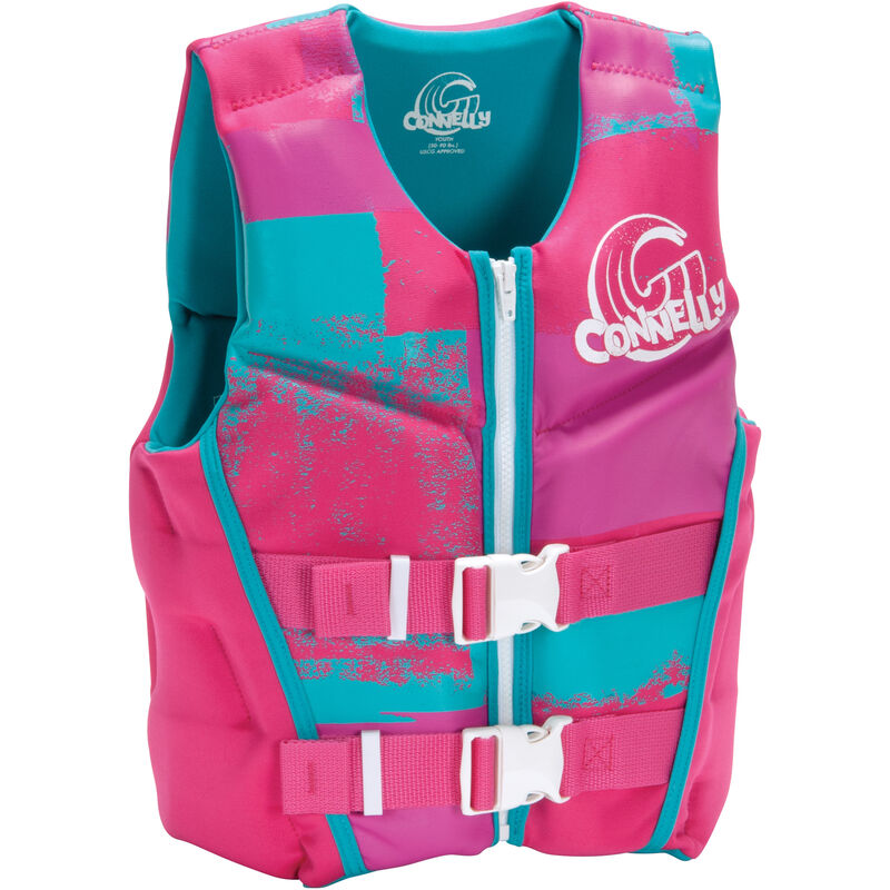 Connelly Girl's Youth Neoprene Life Jacket image number 1