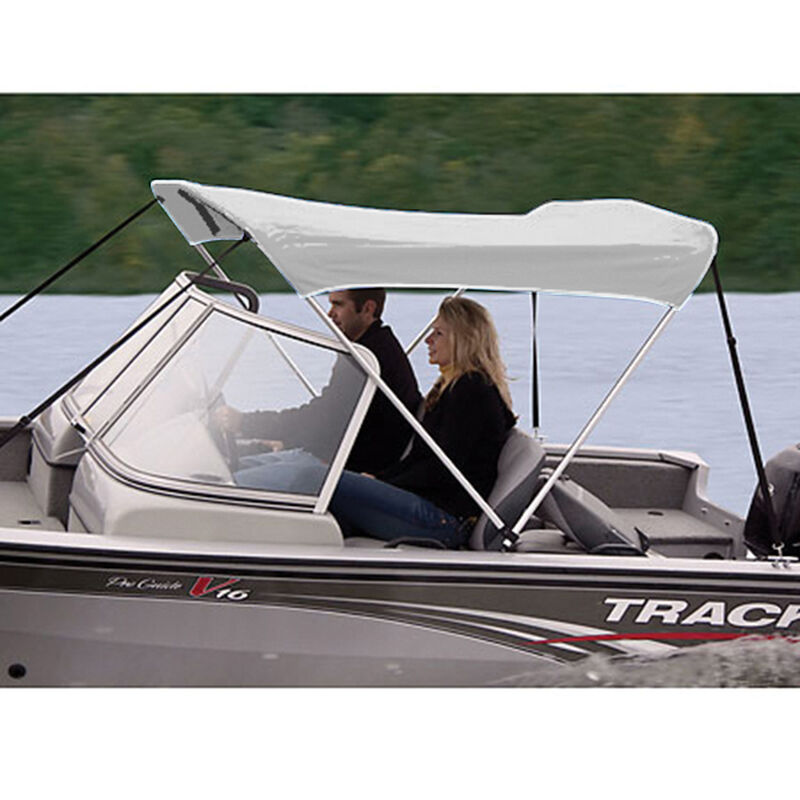 """Shademate Polyester 2-Bow Bimini Top, 5'6""""L x 42""""H, 61""""-66"""" Wide image number 10"""