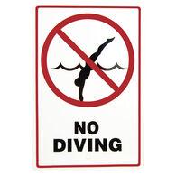 """No Diving"" Sign"
